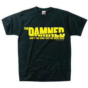 DAMNED / 映画 THE DAMNED「地獄に堕ちた野郎ども」T-SHIRT BLACK x YELLOW(Sサイズ)