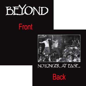 BEYOND (PUNK) / ビヨンド / NO LONGER AT EASE (BLACK) Sサイズ