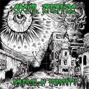 """SOCIAL ENEMIES / DOWNFALL OF HUMANITY (12"""")"""