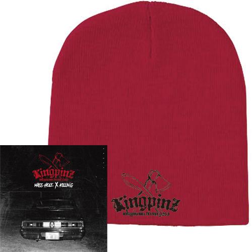 KINGPINZ (MASS-HOLE & KILLIN'G) / KINGPINZ ★ディスクユニオン限定ニットキャップ付セット シングルワッチ-RED-