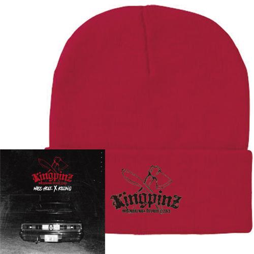 KINGPINZ (MASS-HOLE & KILLIN'G) / KINGPINZ ★ディスクユニオン限定ニットキャップ付セット ダブルワッチ-RED-