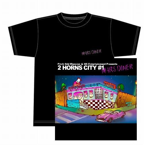 """Pitch Odd Mansion & MS Entertainment       / Pitch Odd Mansion & MS Entertainment Presents""""2 HORNS CITY #1 -MARS DINER-""""★ディスクユニオン限定T-SHIRTS付セットXLサイズ"""