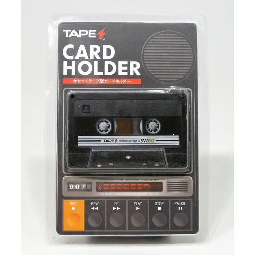 TAPES カードホルダー / カセットテープ型カードホルダー TAPES BLACK ver