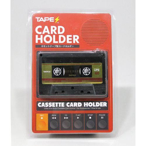 TAPES カードホルダー / カセットテープ型カードホルダー TAPES RED ver