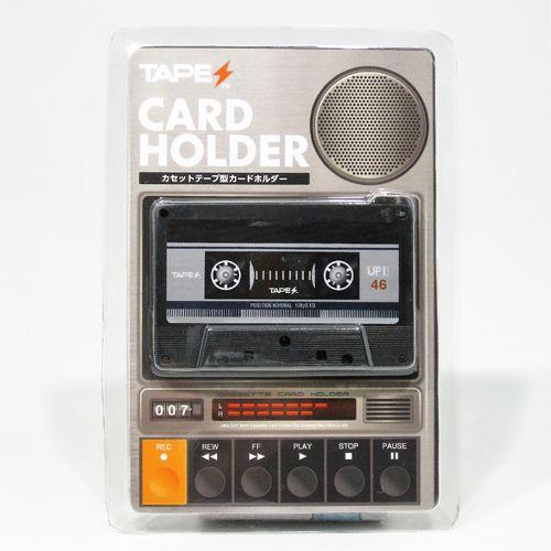TAPES カードホルダー / カセットテープ型カードホルダー TAPES BLUE ver