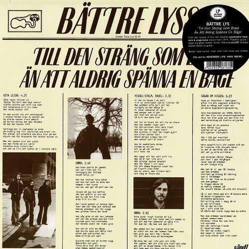BATTRE LYSS / ベットレ・リス / TILL DEN STRÄNG SOM BRAST ÄN ATT ALDRIG SPÄNNA EN BAGE - 180g LIMITED VINYL