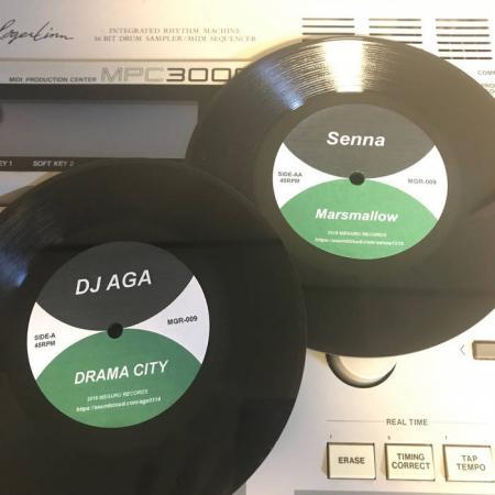 "DJ AGA & SENNA / DRAMA CITY / Marshmallow -Limited 7"" Vinyl-"