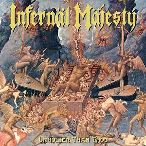 """INFERNAL MAJESTY / UNHOLIER THAN THOU 1998<YELLOW VINYL+7"""">"""