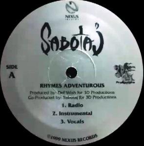 SABOTAJ / RHYMES ADVENTUROUS / SUPREME SOLOIST