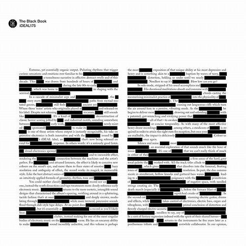 v a noise avant garde the black book 3lp 現在進行系エクス