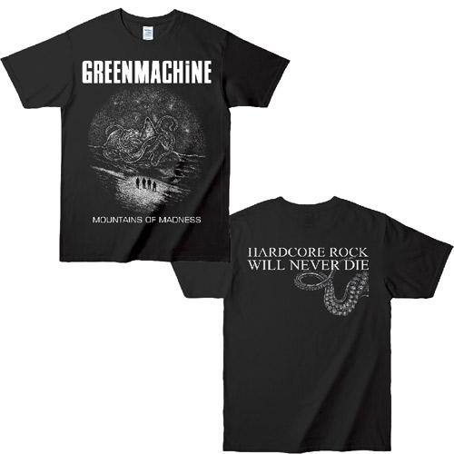 GREENMACHINE / MOUNTAINS OF MADNESS T SHIRT BLACK / WHITE / L