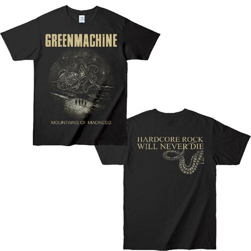 GREENMACHINE / MOUNTAINS OF MADNESS T SHIRT BLACK / SAND/L
