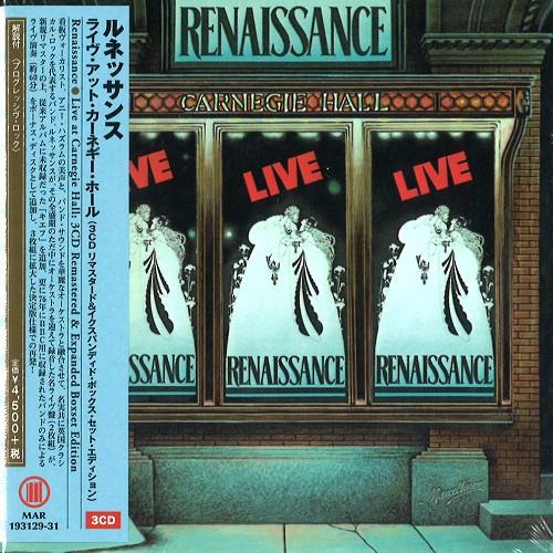 RENAISSANCE (PROG: UK) / ルネッサンス / LIVE AT CARNEGIE HALL: REMASTERED & EXPANDED BOX SET EDITION / ライヴ・アット・カーネギー・ホール - 3CDリマスタード&イクスパンディド・ボックス・セット・エディション