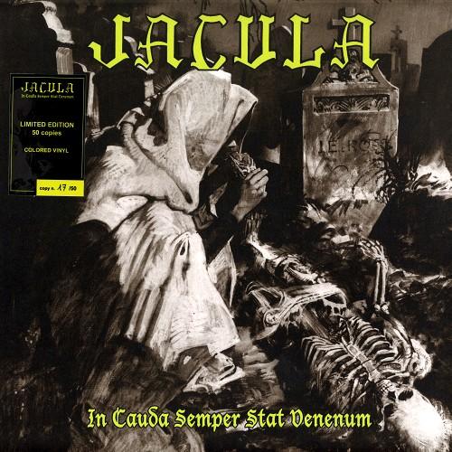JACULA / IN CAUDA SEMPER STAT VENENUM: LIMITED 50 COPIES YELLOW MARBLED VINYL -  180g LIMITED VINYL/2020 REMASTER